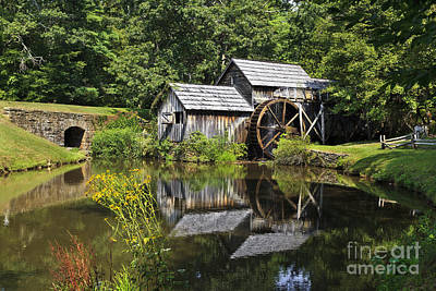 Photograph - Mabry Mill With Summer Reflections by Jill Lang