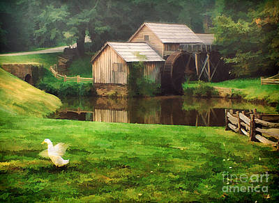 Old Mill Scenes Photograph - Mabrys Mill And The Welcoming Committee by Darren Fisher