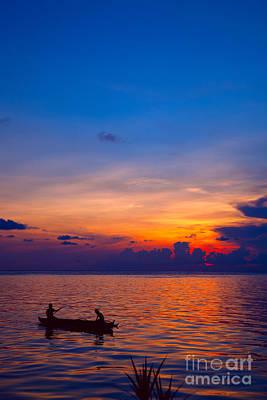 Mabul Island Sunset Borneo Malaysia Art Print by Fototrav Print