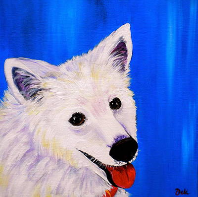 Puppy Lover Painting - Mac by Debi Starr