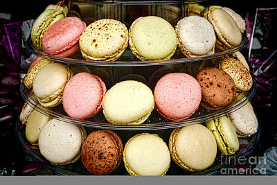 Photograph - Macaroons by Olivier Le Queinec