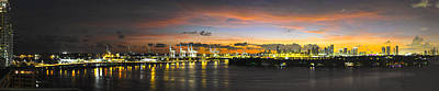 Art Print featuring the photograph Macarthur Causeway Bridge by Gary Dean Mercer Clark