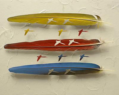 Macaw Flyers Original by Chris Maynard