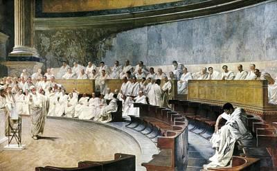 Maccari, C�sar 1840-1919. Cicero Art Print