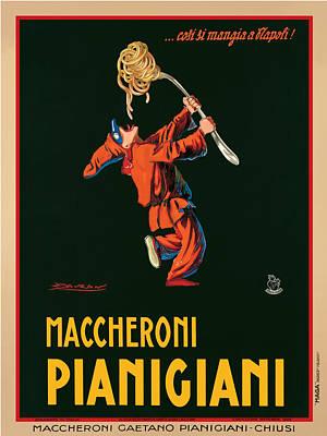 Black Clown Painting - Maccheroni Pianigiani 1922 by Achille Luciano Mauzan