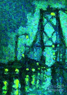 Art In Halifax Digital Art - Macdonald Bridge On Rainy Night In Halifax by John Malone