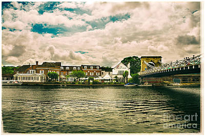 Photograph - Macdonald Compleat Angler Marlow Suspension Bridge by Lenny Carter
