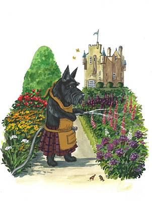 Ryta Painting - Macduff The Gardener by Margaryta Yermolayeva