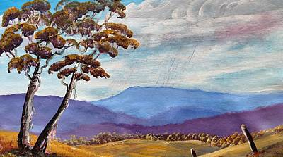 Macedon Blue Art Print by David Belcastro
