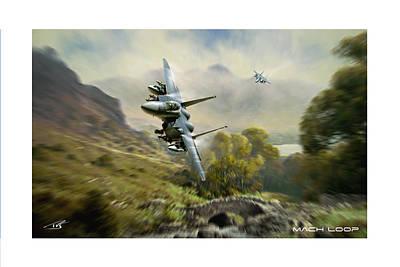 Wales Digital Art - Mach Loop by Peter Van Stigt