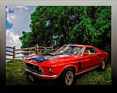 1969 Ford Mach 1 Mustang Art Print