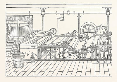 Sifter Drawing - Machine A. Chest B. Vat 4 Feet By 5 C. Sifter D. Lifter E by English School