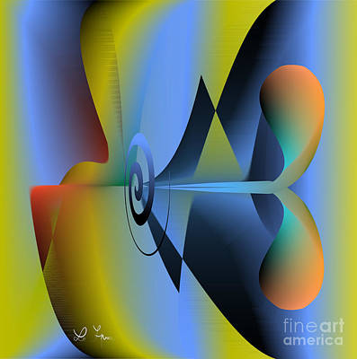 Machine For Happiness Art Print by Leo Symon