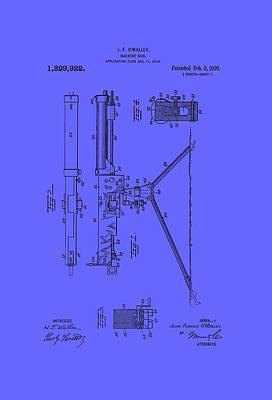 Machine Gun Patent 1920 Art Print