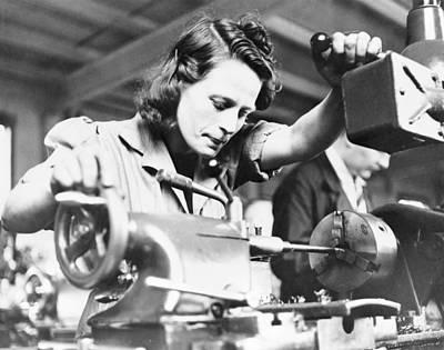 Machine Gun Production, World War II Art Print
