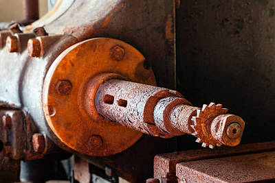 Photograph - Machine Shaft by Alexey Stiop