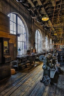 Photograph - Machine Shop by Susan Candelario