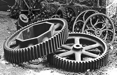 Photograph - Machine Shop Yard. Hagley Museum. by Chris  Kusik
