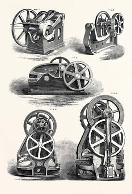 Machine Tools 1. Rivet-making Machine 2 Art Print by English School