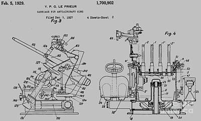 Machinegun Carriage Le Prieur Patent Art Print