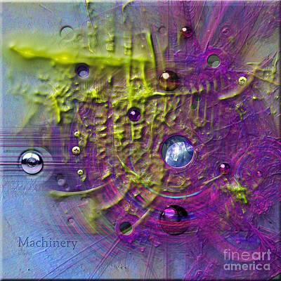 Digital Art - Machinery In Square by Alexa Szlavics