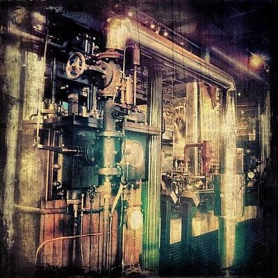Steam Wall Art - Photograph - #machines #birmingham. .. #victorian by Alexandra Cook