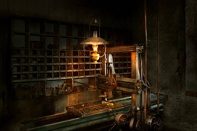 Milling Machine Photograph - Machinist - At The Millers  by Mike Savad