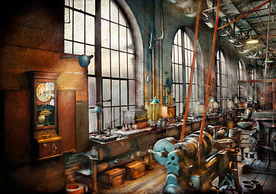 Clock Shop Photograph - Machinist - Back In The Days Of Yesterday by Mike Savad