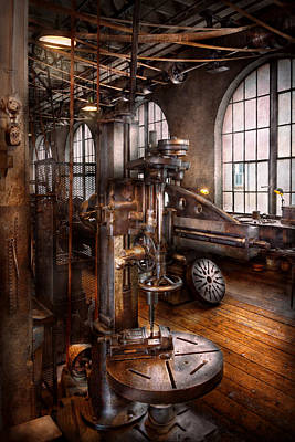 Drill Presses Photograph - Machinist - Industrial Drill Press  by Mike Savad