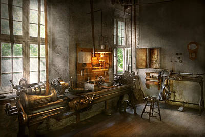 Photograph - Machinist - Lathes by Mike Savad