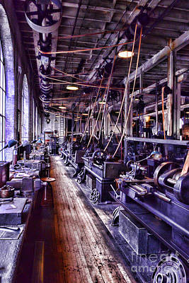 American Pride Photograph - Machinist - The Work Shop by Paul Ward