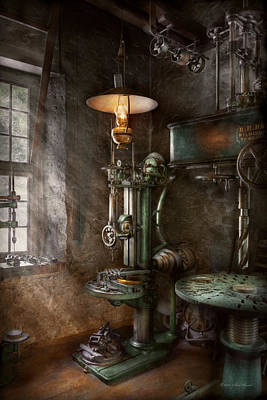 Photograph - Machinist - Where Inventions Are Born by Mike Savad