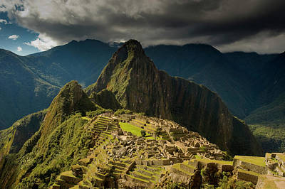 Peru Photograph - Machu Picchu, Ancient Ruins, Unesco by Howie Garber