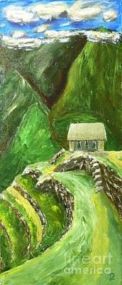 Machu Picchu Painting - Machu Picchu by Declan Leddy