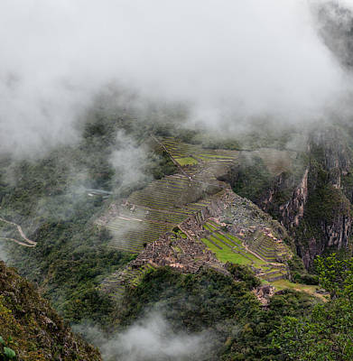 Photograph - Machu Picchu In Clouds by U Schade