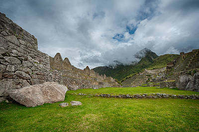 Photograph - Machu Picchu Main Square by U Schade