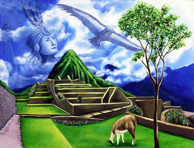Condor Painting - Machu Picchu by Marilen Morales