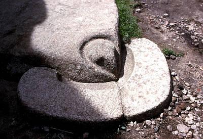 Machu Picchu - Sacrificial Stone Art Print