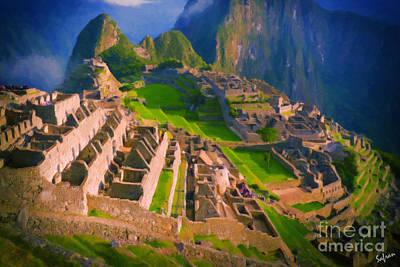 Machu Picchu Painting - Machu Picchu by Safran Fine Art
