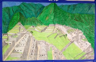 Machu Picchu Art Print by Yusbel Lopez