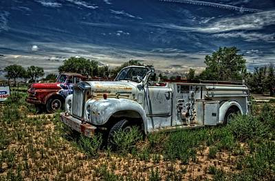 Photograph - Mack Fire Truck by Ken Smith