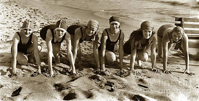 Photograph - Mack Sennetts Bathing Beauties Circa 1920 by California Views Archives Mr Pat Hathaway Archives