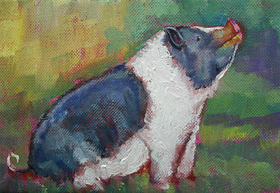 Mack The Pig Art Print