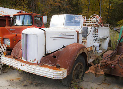 Photograph - Mack Truck 6 by Charles Harden