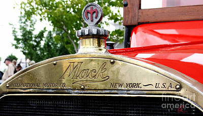 Photograph - Mack Truck Grill by Chris Thomas