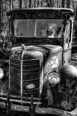 Photograph - Mack Truck In Black And White by Greg and Chrystal Mimbs