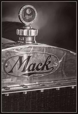 Keck Photograph - Mack Truck Logo - Black And White by F Leblanc