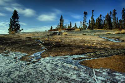 Lakeshore Drive Photograph - Mackenzie Point Outcrop by Jakub Sisak