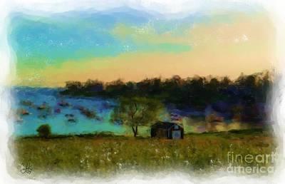 Painting - Mackerel Cove In Shadow 932 20140831 by Julie Knapp