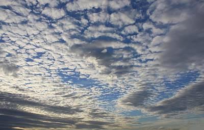 Mackerel Sky Natural Art Print by Amanda Holmes Tzafrir